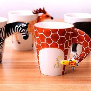 €14.98收 喝水也有好心情HapiLeap 动物系列马克杯 340ml容量 高品质陶瓷制成