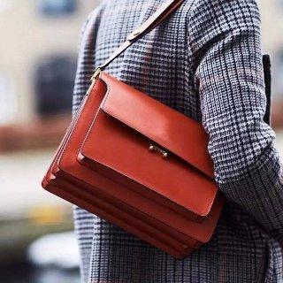 立享8折+包税免邮中国MARNI 美包精选    收秋冬挚爱红色拼接风琴包