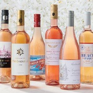 $49.99 + FSDealmoon Exclusive: 6 bottles World-Class Rose + 2 bonus provence rose bottles + 2 stemless glasses @ WSJwines