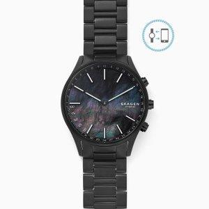 SkagenHolst Black Titanium-Link Hybrid Smartwatch