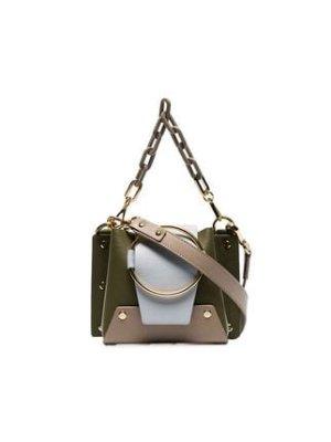 Yuzefi green Delilah mini chain cross body bag