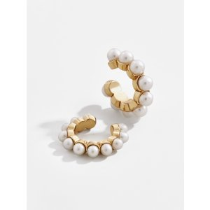 BaubleBarClasina Pearl Ear Cuff Set of 2-Ivory