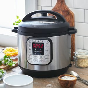 $79.95 Instant Pot Duo 6 Qt 7-in-1 Multi- Use Programmable Pressure Cooker