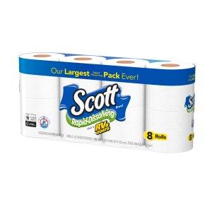 Scott 卫生纸 48卷 快速分解不堵塞