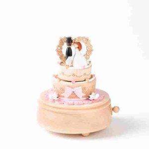 Wedding Cake Wooden Music Box