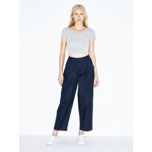 4 items 60% OffTwill Pleated Pant | American Apparel