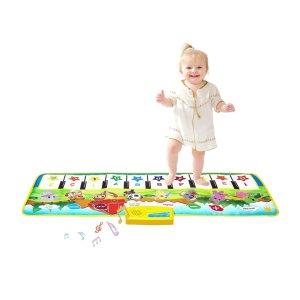 $7.99(原价$20.98)SANMERSEN 儿童脚踏钢琴键盘音乐毯