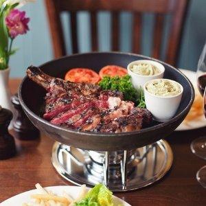 双人现价£44.95 (原价£72)Rowley's 超满足牛排双人套餐 薯条无限吃到爽