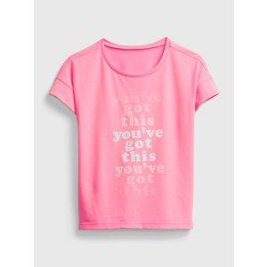 Gap大童 字母印花T恤