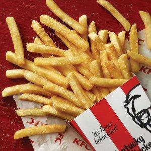 仅$2(原价$4.95)KFC 肯德基大份薯条特价回归 手机APP下单即享