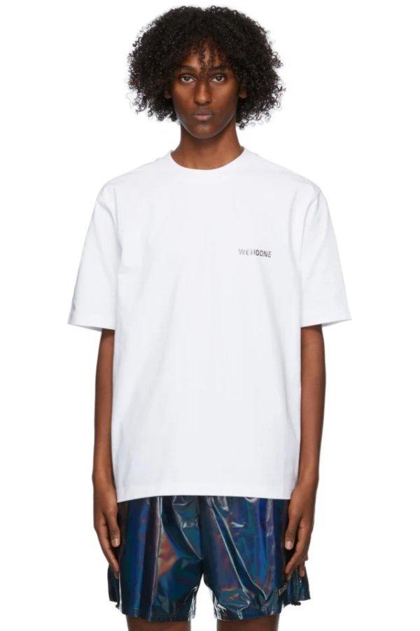 White Metallic T恤
