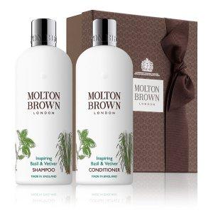 Molton Brown罗勒叶与香根草洗发套装