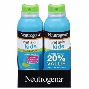 $10.5(原价$17.78) 近史低价Neutrogena 露得清儿童防水防晒喷雾 SPF70+ 两瓶装