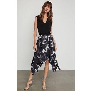 BCBGMAXAZRIAFloral Handkerchief Skirt