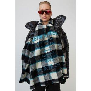 Acne StudiosBlack & White Cassiar围巾
