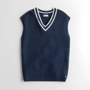 低至3折+额外7.5折Hollister 清仓区捡漏 T恤$4.6,毛衣背心,牛仔短裤$11
