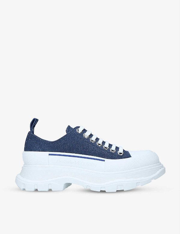 牛仔蓝厚底鞋