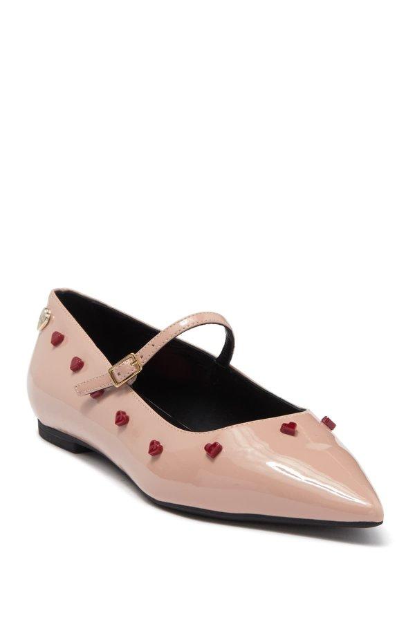 Pointed Toe 爱心玛丽珍鞋