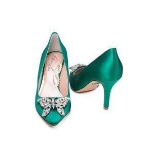 Emilia Farfalla Stiletto Emerald Green | Aruna Seth |  Aruna Seth