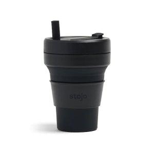 stojo耐脏墨黑色可折叠吸管杯 473ml
