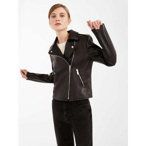 Nappa leather jacket, black -