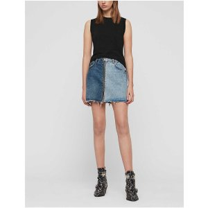 AllSaintsLomo two-tone denim mini skirt