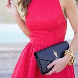 直送$1500礼卡 百搭链条包Saint Laurent 女士手袋热卖 入风琴包,极简托特包