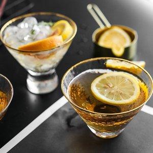 Gold Rim Martini Glass from Apollo Box