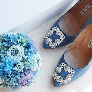 Nadira Jeweled 90mm丝绸高跟鞋