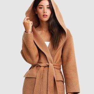 全场7折 封面款浴袍大衣$196Belle & Bloom 多款羊毛大衣热卖中 平价 Max Mara