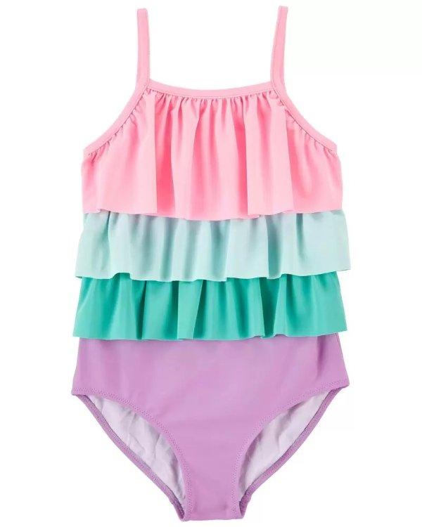 儿童蛋糕裙式泳衣