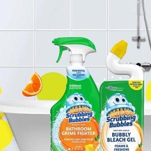 $2.98收 700ml 弯嘴款Scrubbing Bubbles 马桶、浴室清洁剂  轻松去污不留痕