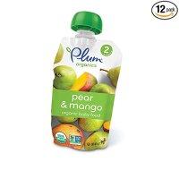 Plum Organics 有机宝宝2阶段果泥 梨+芒果 12包