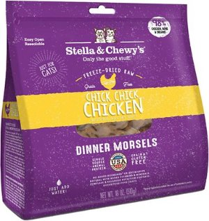 Stella & Chewy's Chick Chick Chicken Dinner Morsels Freeze-Dried Raw Cat Food, 18-oz bag - Chewy.com