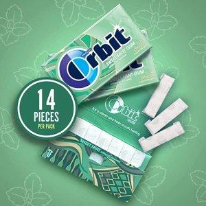 $10.43(原价$14.18)包邮Orbit 薄荷无糖口香糖 20盒 共280片