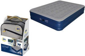 $39Serta 18'' Neverflat Raised Queen Air Mattress w/ Air Pump