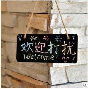Small hangable blackboard Mini shop marker board Creative hanging door sign sentiment blackboard-in Blackboard from Office & School Supplies on Aliexpress.com   Alibaba Group