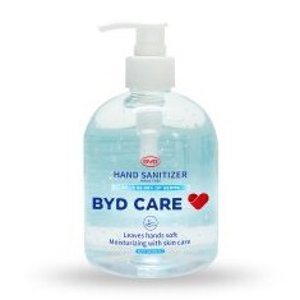 BYD Care Moisturizing Hand Sanitizer, Fragrance-Free, 16.9 Oz Pump Bottle
