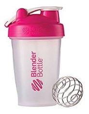 BlenderBottle Classic Loop Top Shaker Bottle, Clear/Pink