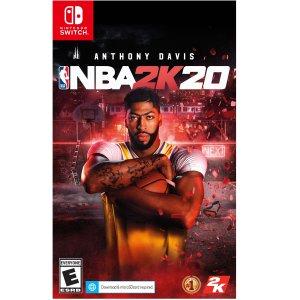 $4.99 (原价$59.99)白菜价:《NBA 2K20》Nintendo Switch 数字版 金币直接兑换