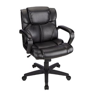 $69Brenton Studio® Briessa Mid-Back Vinyl Chair, Black