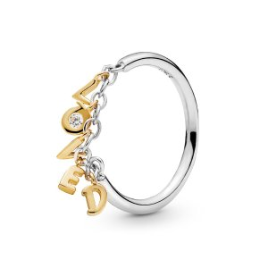 PandoraLoved Script Two-Tone Ring