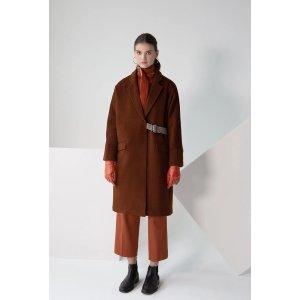 PETITE STUDIO羊毛大衣 - 肉桂色