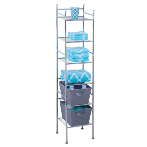 Honey-Can-Do BTH-03484 6 Tier Metal Tower Bathroom Shelf