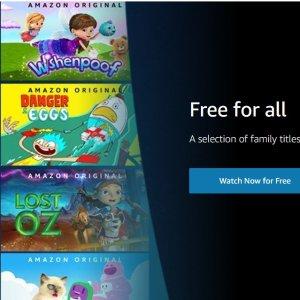 所有动画片、儿童剧免费开放Amazon Prime Video 动画片免费看