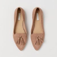 H&M 流苏麂皮单鞋