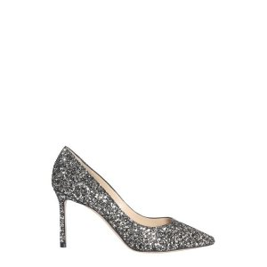 Jimmy ChooROMY DECOLLETE PUMPS IN GLITTER FABRIC