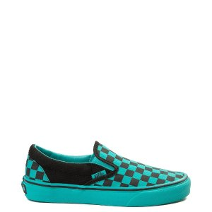 VansSlip On Checkerboard Skate Shoe - Aqua / Black