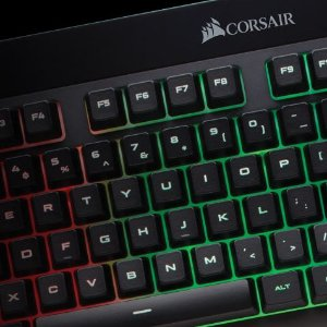 圣诞好礼物:CORSAIR 美商海盗船 K55 RGB 机械键盘键鼠套装
