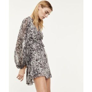 The KooplesShort dress with gathered bust